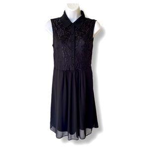 Suzy shier Black lace sleeveless dress